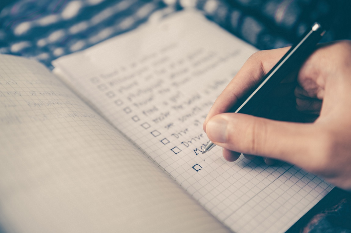 make a list, ideal organizers, professional organizers