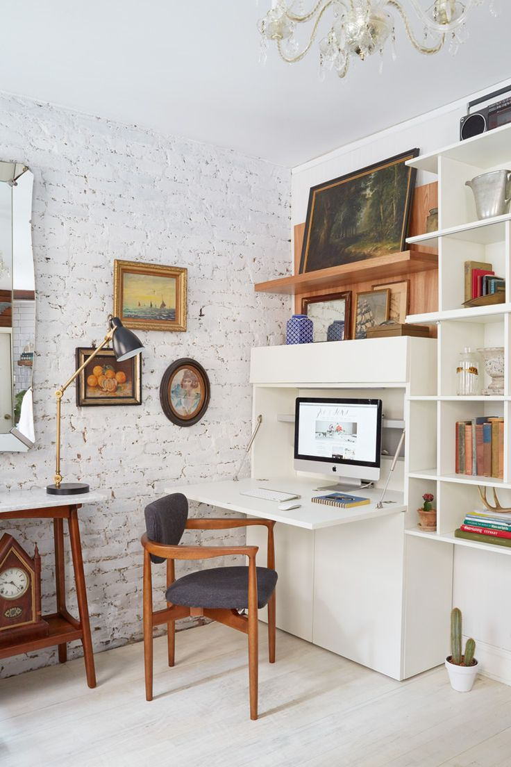 folding desk shelves table lamp