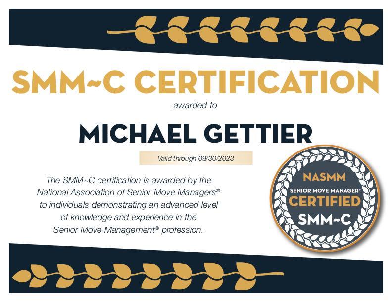 Michael Gettier SMM cert